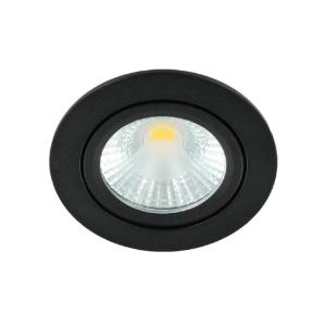 LED spot kantelbaar 5Watt rond ZWART dimbaar-D1-1