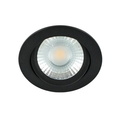 LED spot kantelbaar 5Watt rond ZWART dimbaar-D1-2