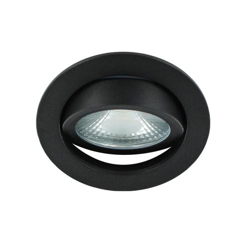 LED spot kantelbaar 5Watt rond ZWART dimbaar-D1-3