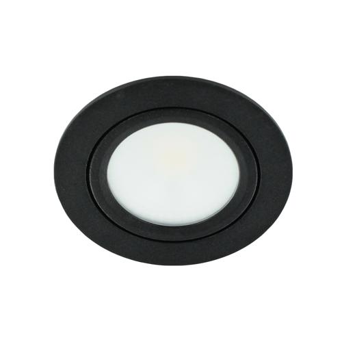 LED spot kantelbaar 5Watt rond ZWART dimbaar-D2-1