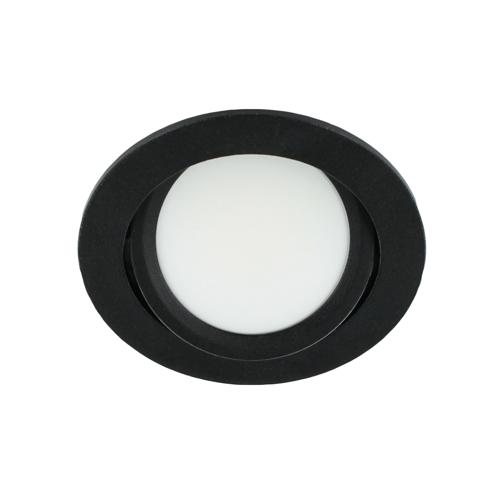 LED spot kantelbaar 5Watt rond ZWART dimbaar-D3-2