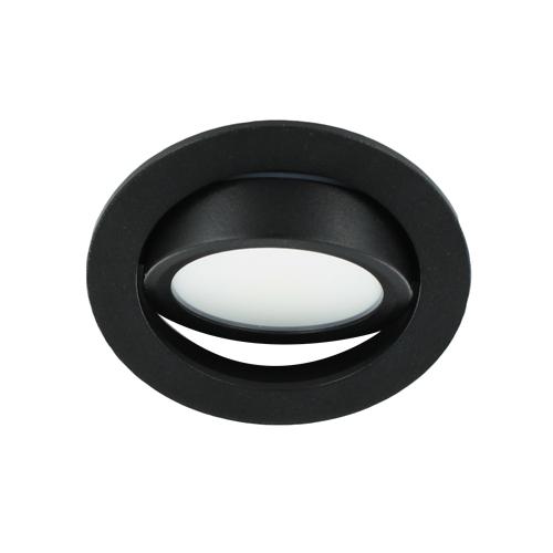 LED spot kantelbaar 5Watt rond ZWART dimbaar-D3-3