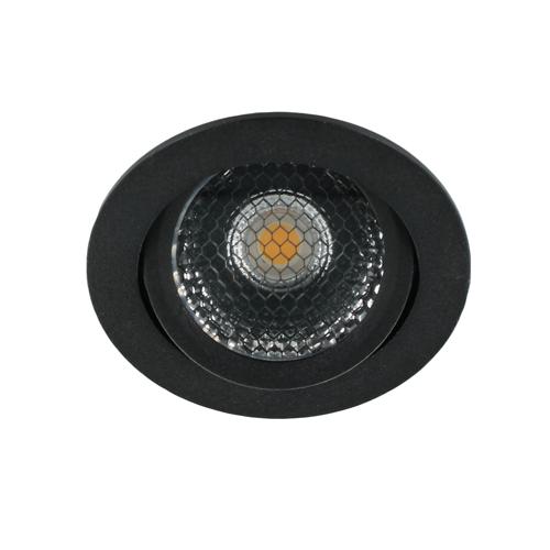 LED spot kantelbaar 5Watt rond ZWART dimbaar-D5-2