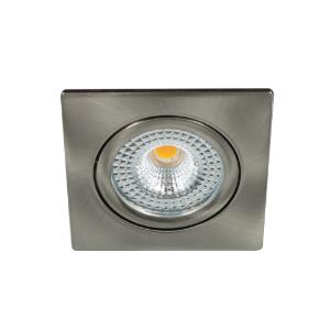 LED spot kantelbaar 5Watt vierkant NIKKEL IP65 dimbaar D1-1 - Zonder driver