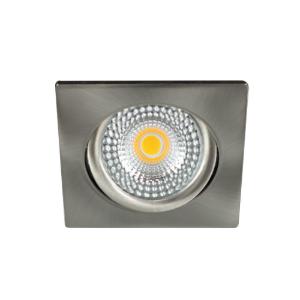 LED spot kantelbaar 5Watt vierkant NIKKEL IP65 dimbaar D1-2 - Zonder driver