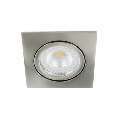 LED spot kantelbaar 5Watt vierkant NIKKEL IP65 dimbaar D2-1 - Zonder driver