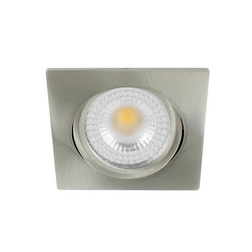 LED spot kantelbaar 5Watt vierkant NIKKEL IP65 dimbaar D2-2 - Zonder driver