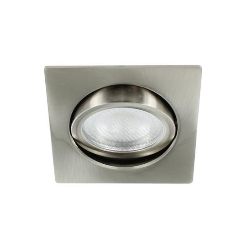 LED spot kantelbaar 5Watt vierkant NIKKEL IP65 dimbaar D2-3 - Zonder driver