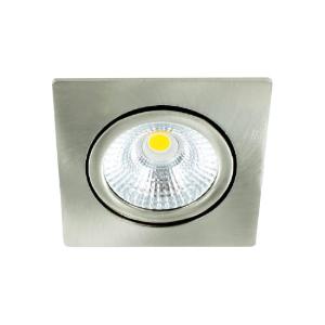 LED spot kantelbaar 5Watt vierkant NIKKEL dimbaar-D-1