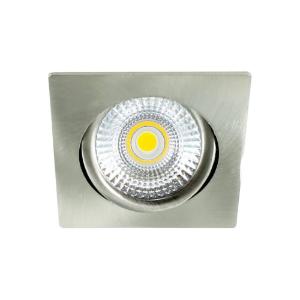 LED spot kantelbaar 5Watt vierkant NIKKEL dimbaar-D-2