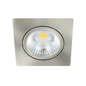 LED spot kantelbaar 5Watt vierkant NIKKEL dimbaar-D1-1