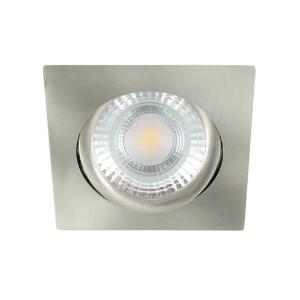 LED spot kantelbaar 5Watt vierkant NIKKEL dimbaar-D1-2