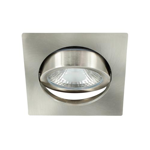 LED spot kantelbaar 5Watt vierkant NIKKEL dimbaar-D1-3