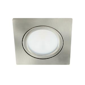 LED spot kantelbaar 5Watt vierkant NIKKEL dimbaar-D2-1