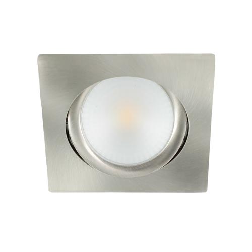 LED spot kantelbaar 5Watt vierkant NIKKEL dimbaar-D2-2