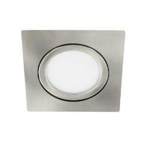 LED spot kantelbaar 5Watt vierkant NIKKEL dimbaar-D3-1