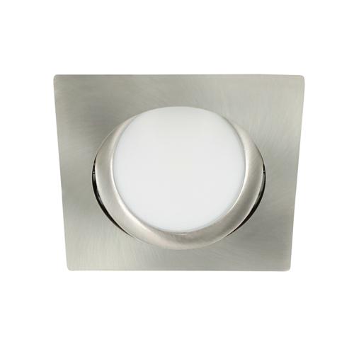 LED spot kantelbaar 5Watt vierkant NIKKEL dimbaar-D3-2