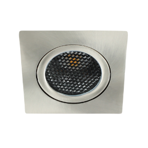 LED spot kantelbaar 5Watt vierkant NIKKEL dimbaar-D5-1