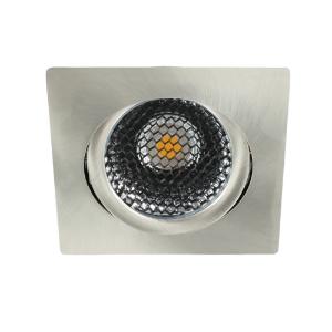LED spot kantelbaar 5Watt vierkant NIKKEL dimbaar-D5-2