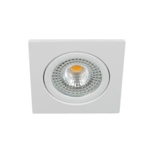 LED spot kantelbaar 5Watt vierkant WIT IP65 dimbaar D1-1 - Zonder driver