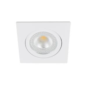LED spot kantelbaar 5Watt vierkant WIT IP65 dimbaar D2-1 - Zonder driver