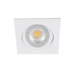 LED spot kantelbaar 5Watt vierkant WIT IP65 dimbaar D2-2 - Zonder driver