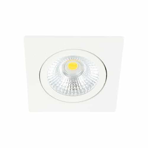 LED spot kantelbaar 5Watt vierkant WIT dimbaar-D-1