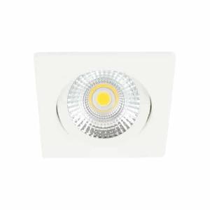LED spot kantelbaar 5Watt vierkant WIT dimbaar-D-2
