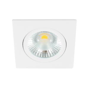 LED spot kantelbaar 5Watt vierkant WIT dimbaar-D1-1
