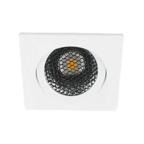 LED spot kantelbaar 5Watt vierkant WIT dimbaar-D5-2