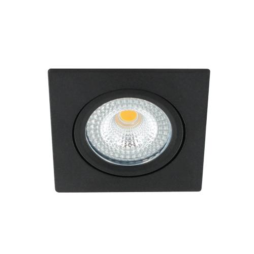 LED spot kantelbaar 5Watt vierkant ZWART IP65 dimbaar D1-1 - Zonder driver