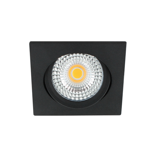 LED spot kantelbaar 5Watt vierkant ZWART IP65 dimbaar D1-2 - Zonder driver