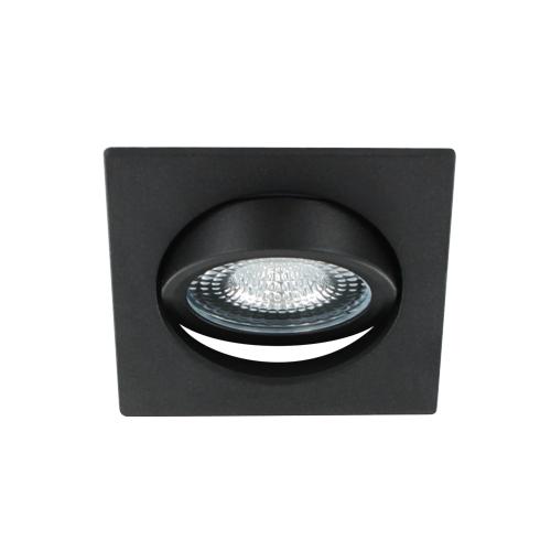 LED spot kantelbaar 5Watt vierkant ZWART IP65 dimbaar D1-3 - Zonder driver