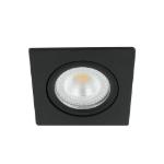 LED spot kantelbaar 5Watt vierkant ZWART IP65 dimbaar D2-1 - Zonder driver