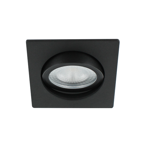 LED spot kantelbaar 5Watt vierkant ZWART IP65 dimbaar D2-3 - Zonder driver