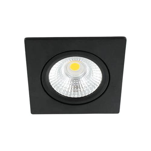 LED spot kantelbaar 5Watt vierkant ZWART dimbaar-D-1