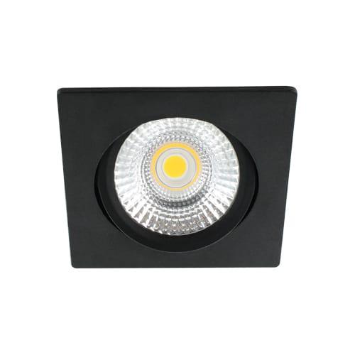 LED spot kantelbaar 5Watt vierkant ZWART dimbaar-D-2