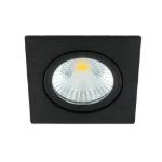 LED spot kantelbaar 5Watt vierkant ZWART dimbaar-D1-1