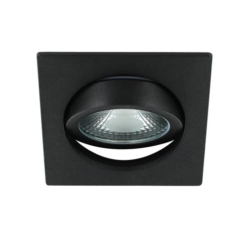 LED spot kantelbaar 5Watt vierkant ZWART dimbaar-D1-3