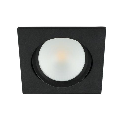 LED spot kantelbaar 5Watt vierkant ZWART dimbaar-D2-2