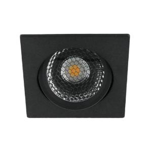 LED spot kantelbaar 5Watt vierkant ZWART dimbaar-D5-2