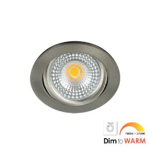 LED spot kantelbaar 7Watt rond NIKKEL IP65 dimbaar DTW-2 - Zonder driver