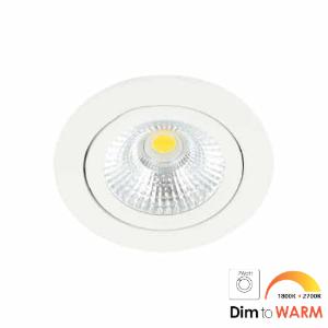LED spot kantelbaar 7Watt rond WIT dimbaar-DTW-1