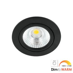 LED spot kantelbaar 7Watt rond ZWART dimbaar-DTW-1