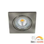 LED spot kantelbaar 7Watt vierkant NIKKEL IP65 dimbaar DTW-1 - Zonder driver