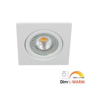 LED spot kantelbaar 7Watt vierkant WIT IP65 dimbaar DTW-1 - Zonder driver