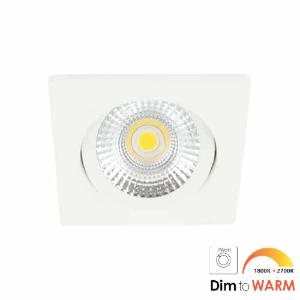 LED spot kantelbaar 7Watt vierkant WIT dimbaar-DTW-2