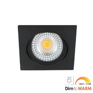 LED spot kantelbaar 7Watt vierkant ZWART IP65 dimbaar DTW-2 - Zonder driver