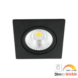 LED spot kantelbaar 7Watt vierkant ZWART dimbaar-DTW-1
