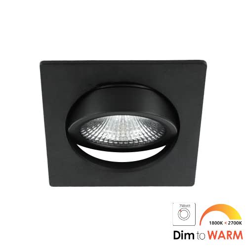 LED spot kantelbaar 7Watt vierkant ZWART dimbaar-DTW-3